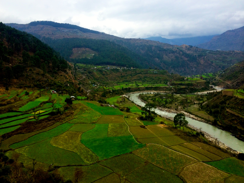 Landscape Tiuni Pabbar River.