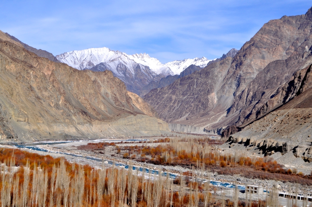 On the other side of the icy mountains is Pakistan