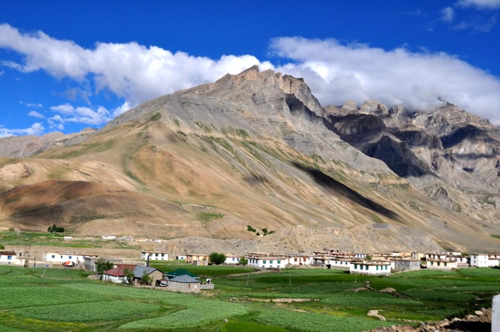Beautiful hamlet in the high Himalaya