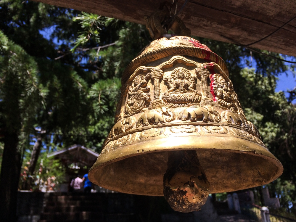 Beautiful bell at the entrance of Shiva Temple