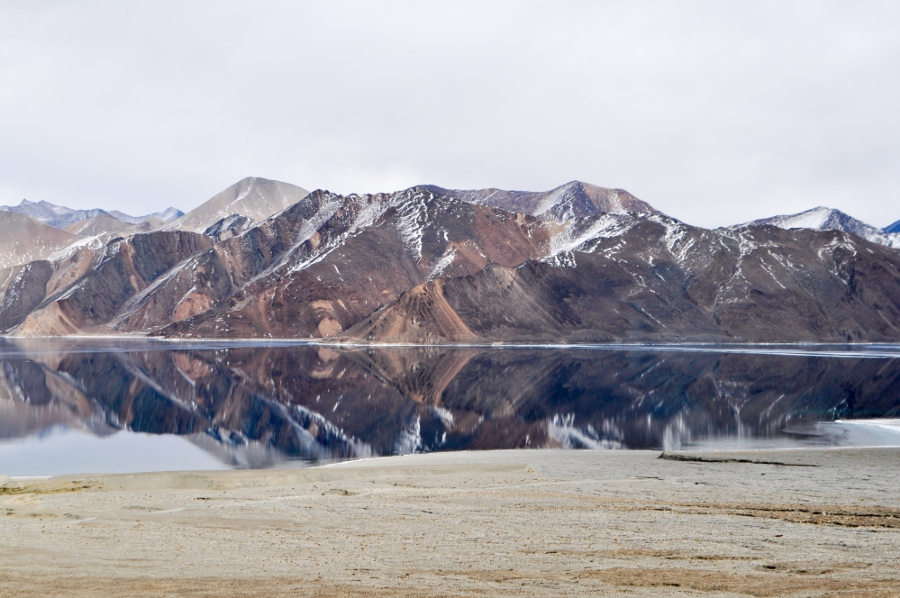 Reflections of Pangong Tso