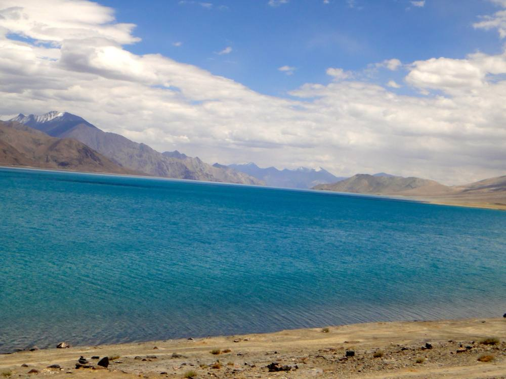 The trouble started with Pangong Lake, (not Tso)