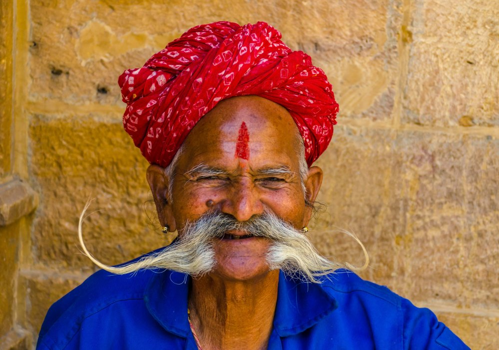 Rajasthani moustache