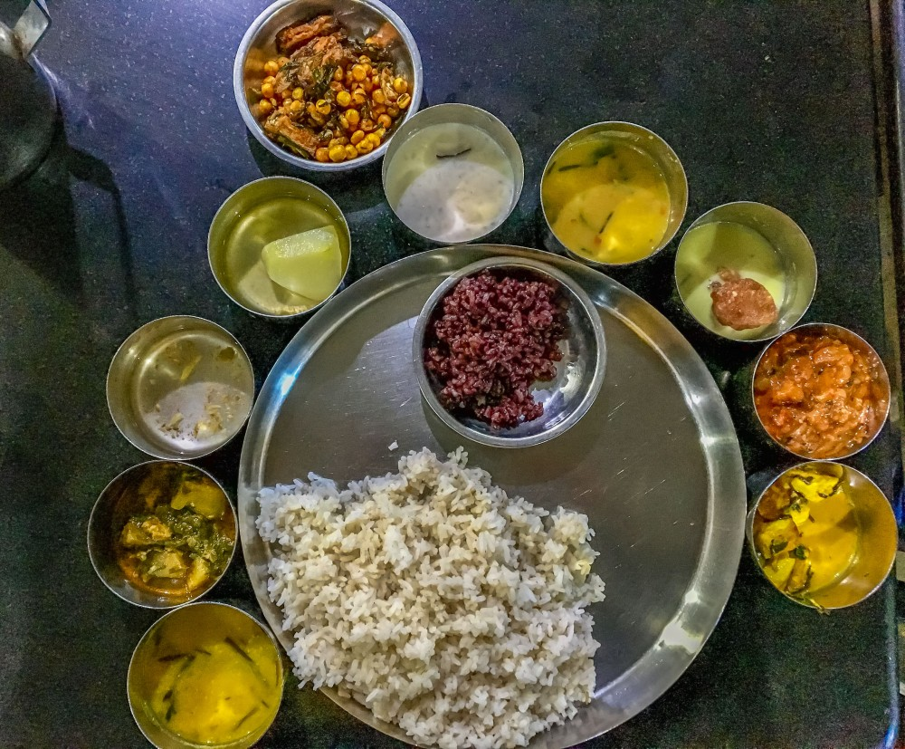Manipuri Thali at Luxmi Kitchen